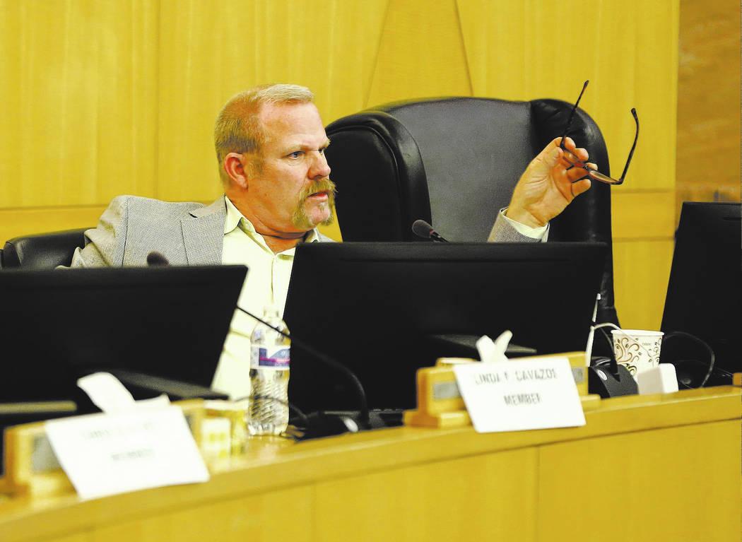 Kevin Child, fideicomisario del Distrito Escolar del Condado de Clark. Chase Stevens Las Vegas Review-Journal @csstevensphoto