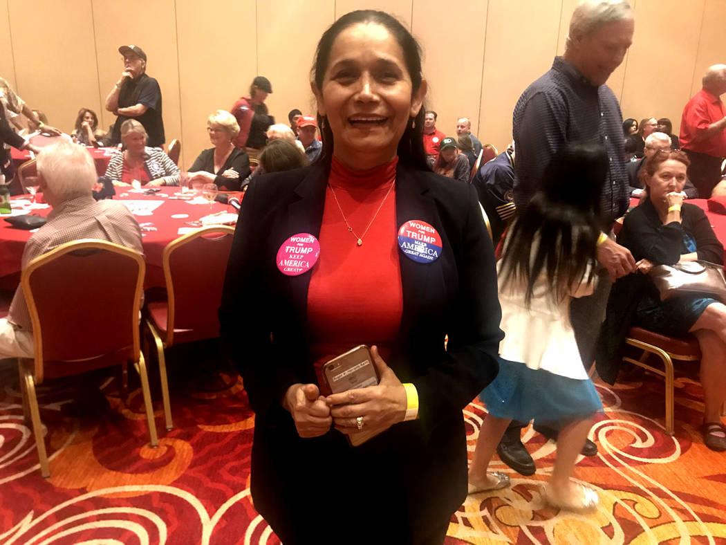 Myriam Witcher rescató que los republicanos mantienen mayoría en el Senado. Martes 6 de octubre de 2018 en el hotel y casino South Point. Foto Anthony Avellaneda / El Tiempo.