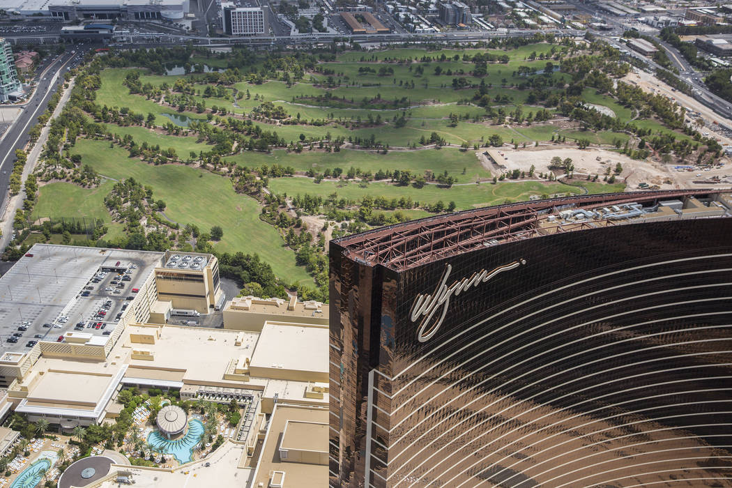 Foto aérea de Wynn Las Vegas y construcción del nuevo campo de golf el miércoles 22 de agosto de 2018, en Las Vegas. Benjamin Hager Las Vegas Review-Journal