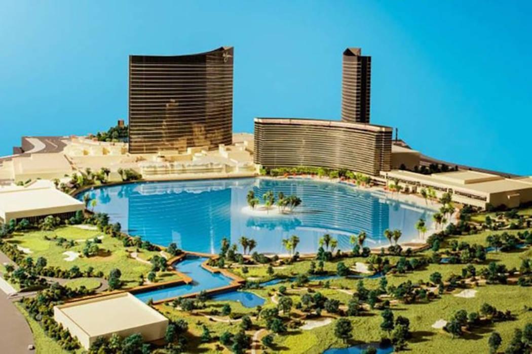 Representación de la propuesta Wynn Resorts Paradise Park en el Strip de Las Vegas. (Cortesía / JP Morgan / Wynn Resorts)