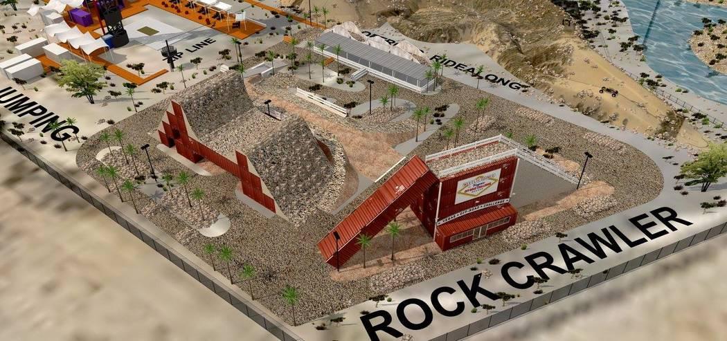 El propietario de Machine Guns Vegas, Genghis Cohen, trazó planes hace más de dos años para XPark Vegas sobre la Interestatal 15. XPark contaría con una torre de 180 pies, un campo de tiro, un ...