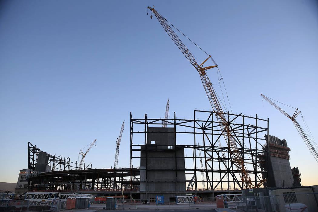 El sitio de construcción del estadio de los Raiders en Las Vegas, el lunes 12 de noviembre de 2018. Erik Verduzco Las Vegas Review-Journal @Erik_Verduzco