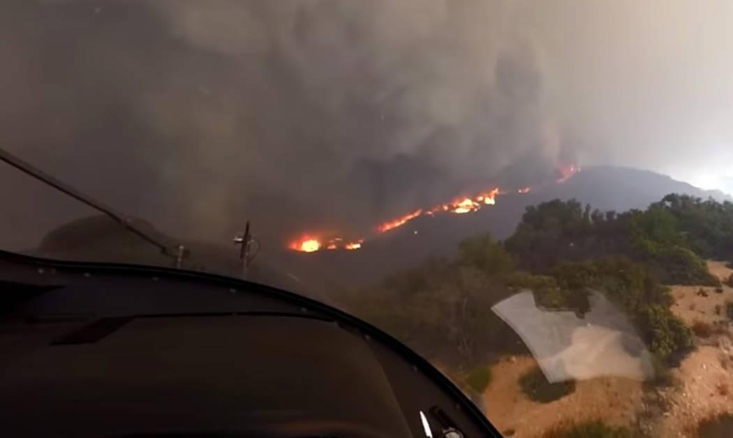 (David Nordquist/Los Angeles Fire Department via AP)