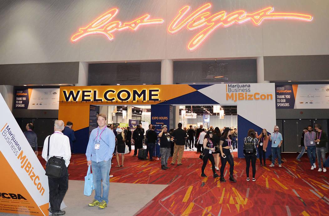 Un aspecto de la movilización que ocasionó la MJ Biz Conference and Expo 2018. Viernes 16 de noviembre de 2018 en el Centro de Convenciones de Las Vegas. Foto Frank Alejandre / El Tiempo.