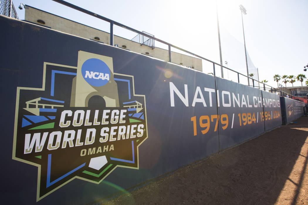 El equipo de béisbol Cal State Fullerton ganó cuatro campeonatos nacionales, como se muestra en Goodwin Field, en Fullerton, California, el miércoles 31 de octubre de 2018. Chase Stevens Las Ve ...