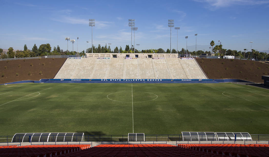 Titan Stadium, anteriormente sede del programa de fútbol, en Cal State Fullerton en Fullerton, California, el miércoles 31 de octubre de 2018. Chase Stevens Las Vegas Review-Journal @csstevensphoto