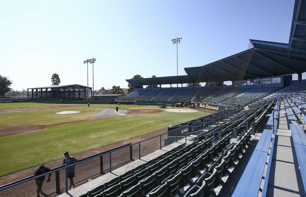 Blair Field en Long Beach, California, el campo fuera del campus utilizado por el programa de béisbol Long Beach State Dirtbags, el martes 30 de octubre de 2018. Chase Stevens Las Vegas Review-Jo ...