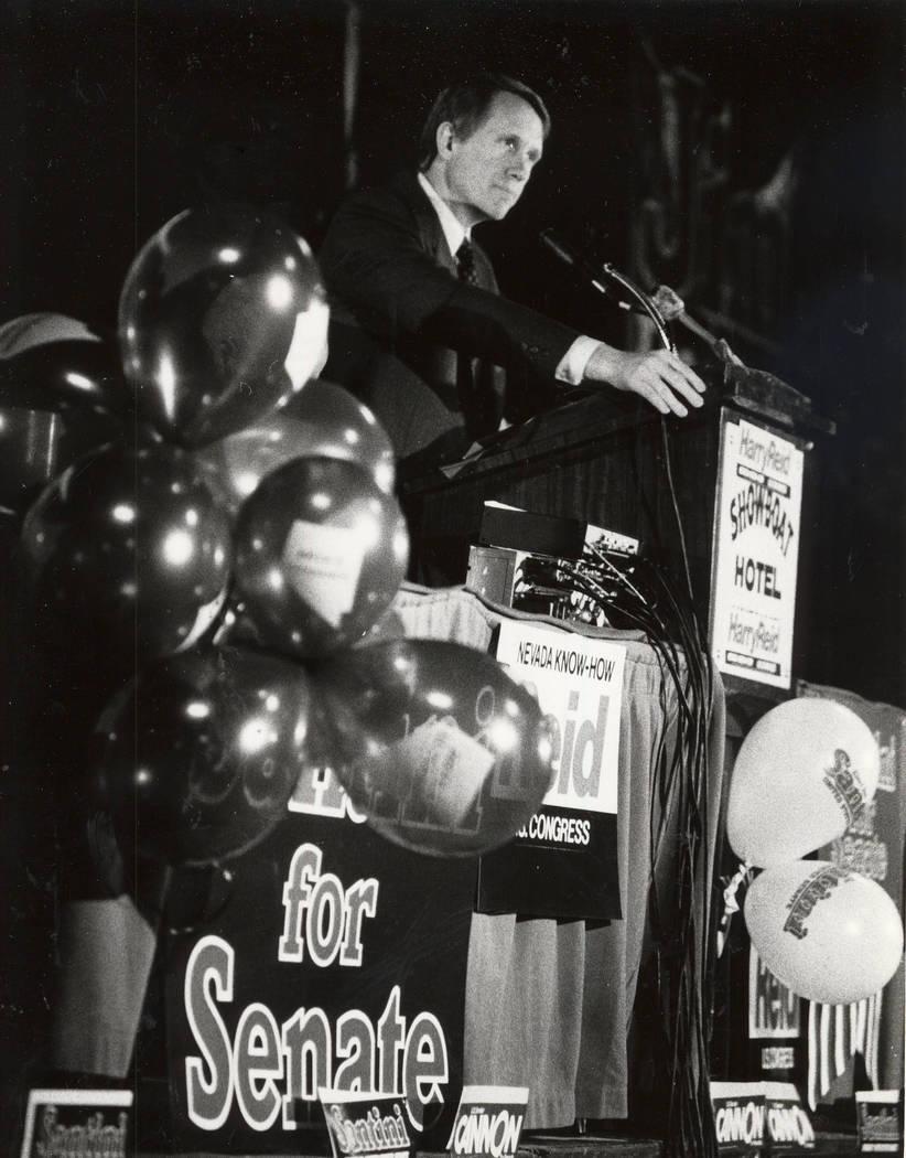 Harry Reid en Marzo 27, 1982. Gary Thompson/Las Vegas Review-Journal