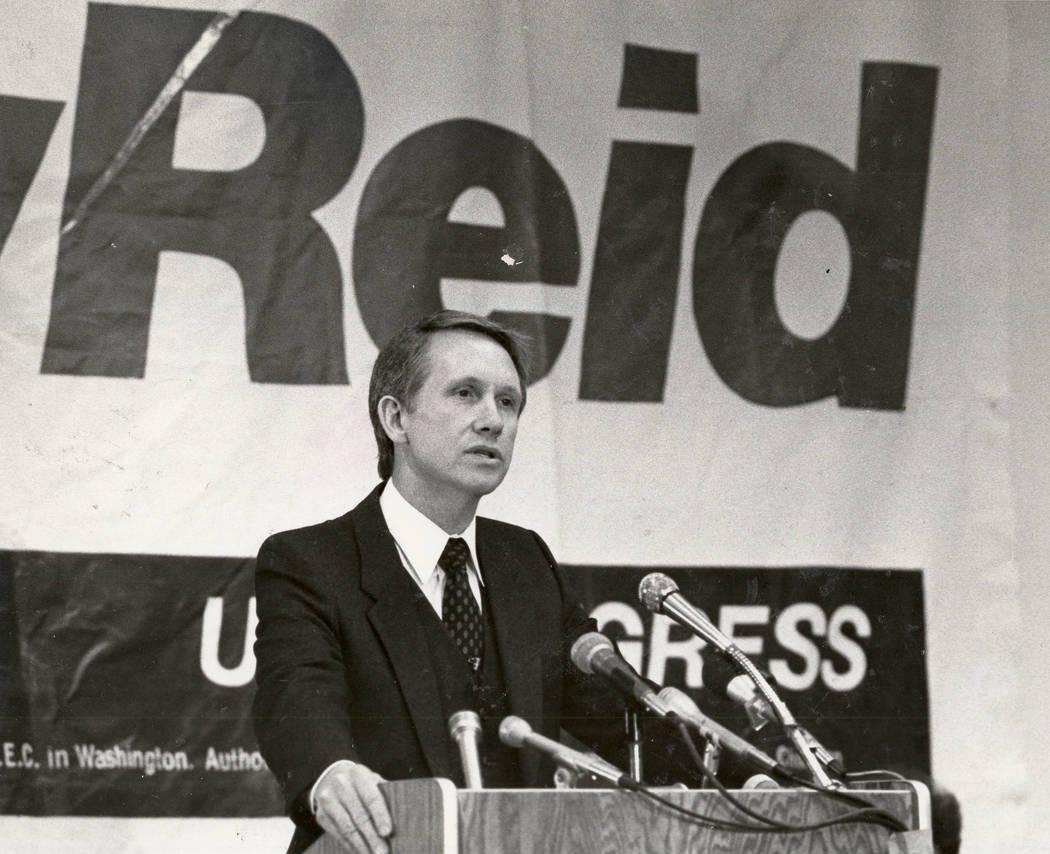 Harry Reid en Mayo 5, 1982. Gary Thompson/Las Vegas Review-Journal
