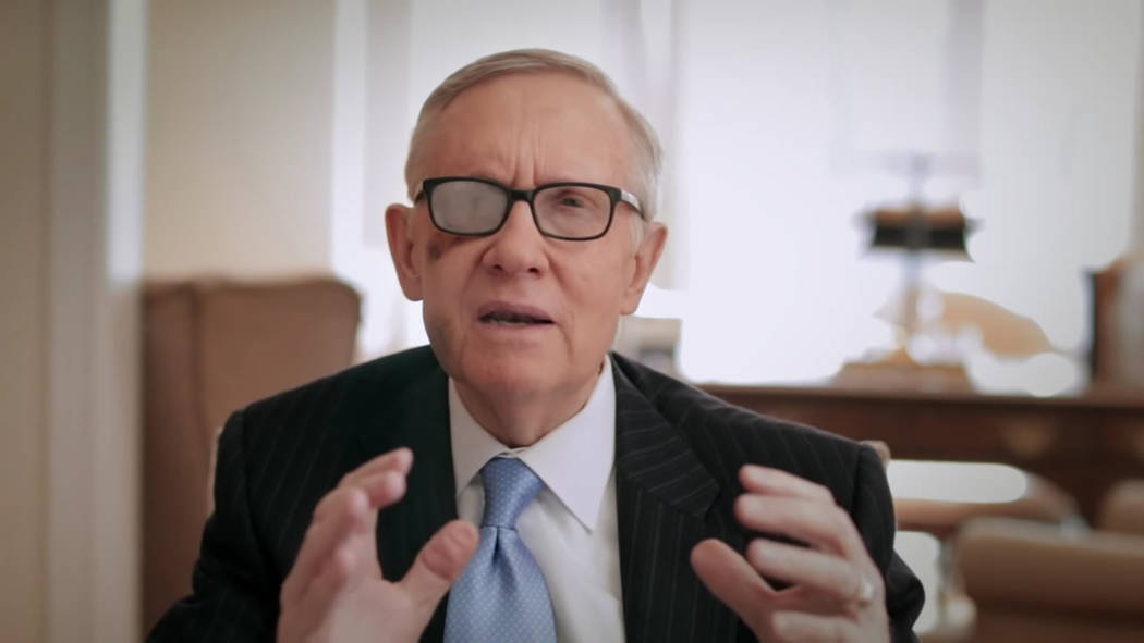Una imagen fija tomada de un video del senador estadounidense Harry Reid publicado en su sitio web el 27 de marzo de 2015, anunciando que no buscará la reelección.