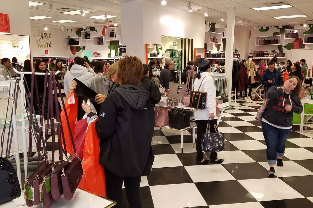 It was starting to get busy at Kate Spade at Premium Outlets North in downtown Las Vegas on Black Friday, Nov. 23, 2018. By 10 a.m. they expect to form lines to get in. (Rick Velotta/Las Vegas Rev ...