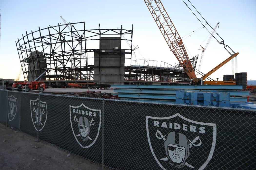 El sitio de construcción del estadio de los Raiders en Las Vegas, el lunes 12 de noviembre de 2018. Erik Verduzco Las Vegas Review-Journal / El Tiempo @Erik_Verduzco