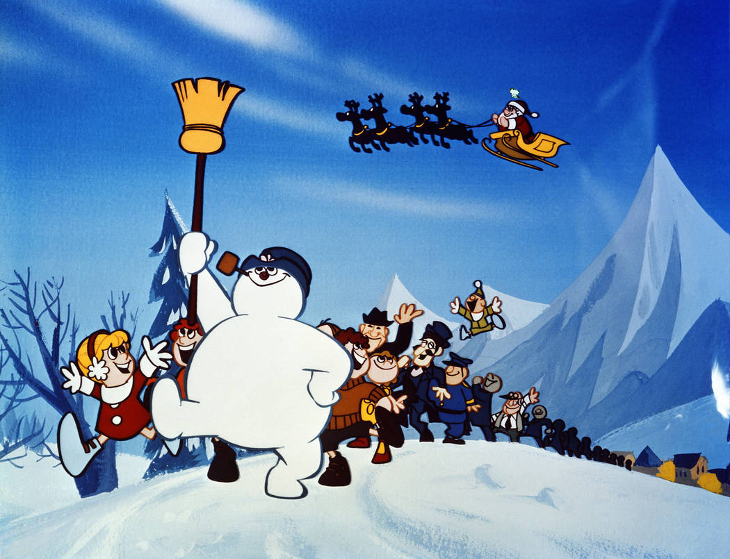 """Frosty, that """"jolly, happy soul"""" whose old silk hat full of magic has turned him into a musical Christmas legend, once again demonstrates his unique showmanship in """"Frosty the Snowman,"""" the popula ..."""