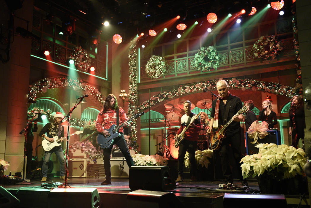 Foo Fighters perform a Christmas Melody during Saturday Night LIve in Studio 8H on Saturday, December 16, 2017 (Will Heath/NBC)