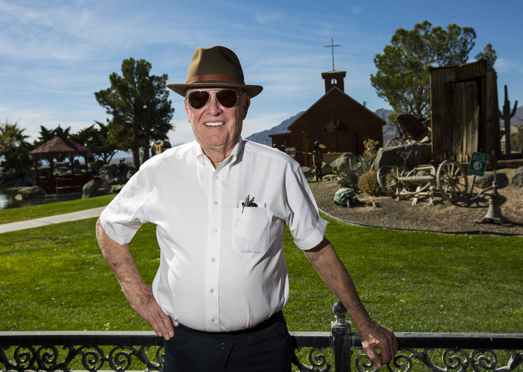 El empresario Jim Marsh en su Casino Longstreet en Amargosa Valley el domingo 28 de octubre de 2018. Chase Stevens Las Vegas Review-Journal @csstevensphoto