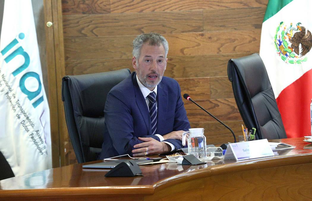 Archivo. Bogotá, 17 Sep 2018 (Notimex-Especial).- El consejero del Instituto Nacional de Transparencia, Acceso a la Información y Protección de Datos Personales, Joel Salas Suárez señaló que ...