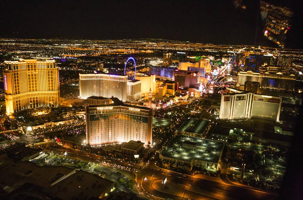 Una vista aérea del Strip de Las Vegas. Jeff Scheid / Las Vegas Review-Journal