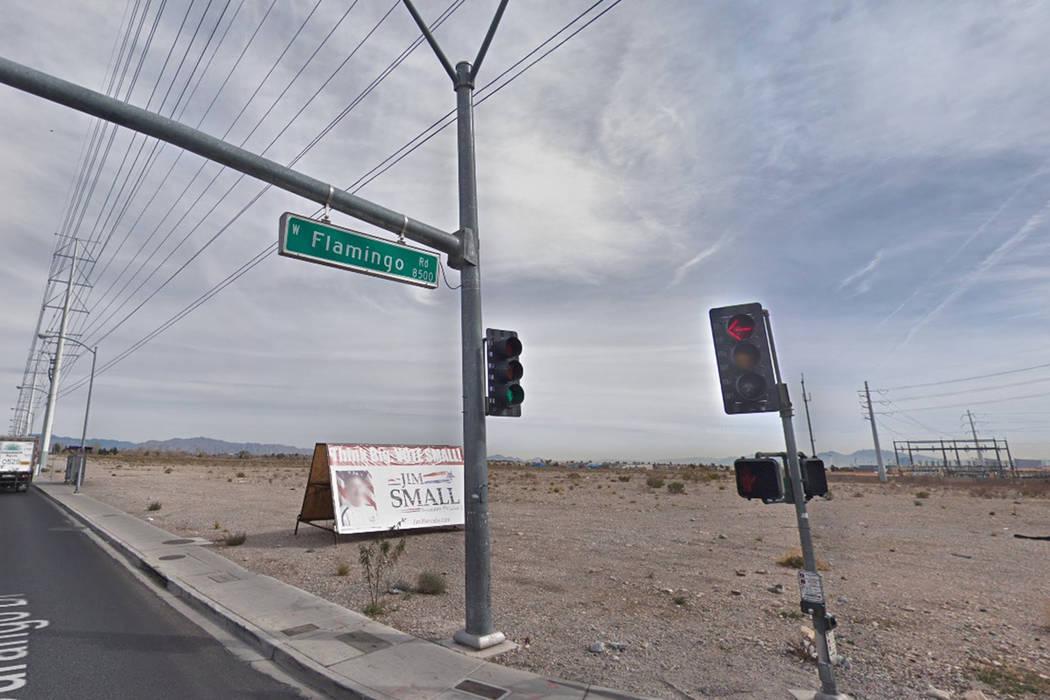 Intersección de Flamingo Road y Durango Drive. (Captura de pantalla/Google Street View)