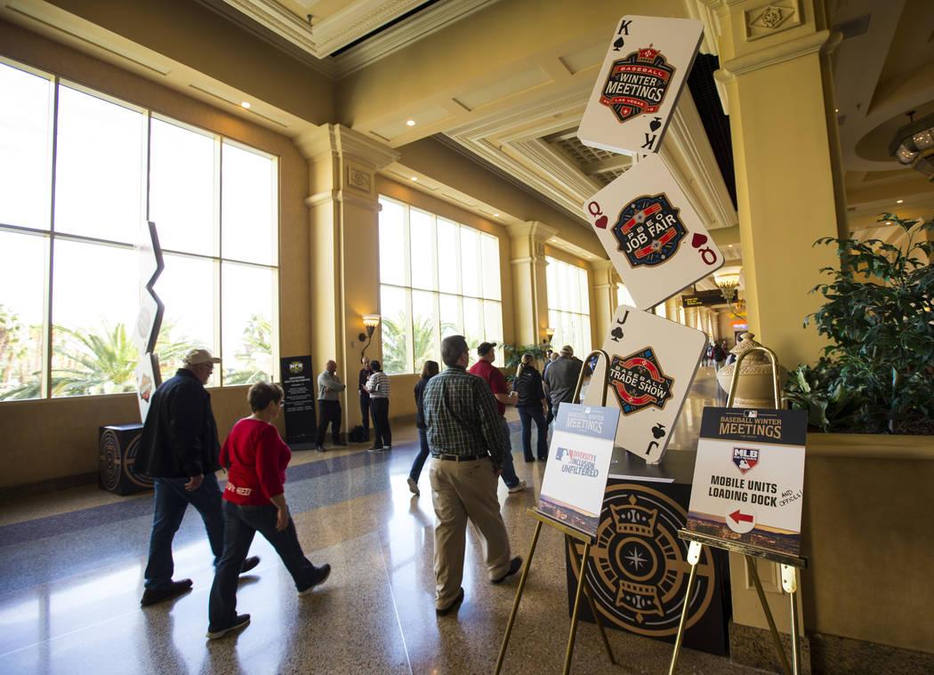 Asistentes a las reuniones de invierno de la Major League Baseball en Mandalay Bay en Las Vegas el lunes 10 de diciembre de 2018. Chase Stevens Las Vegas Review-Journal @csstevensphoto