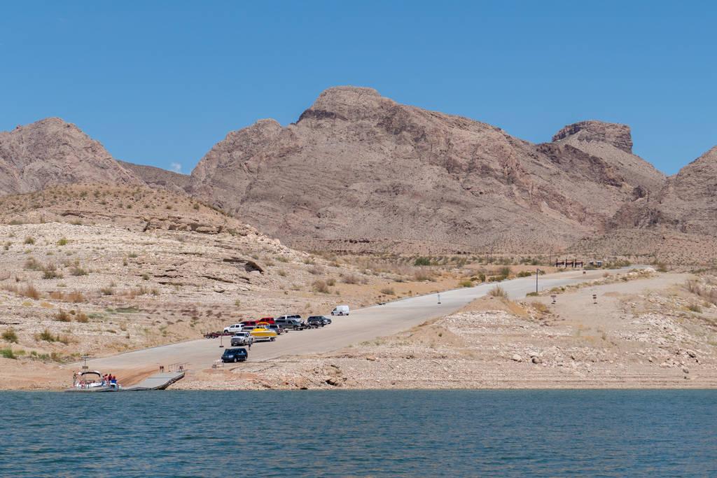 La rampa de lanzamiento para botes de South Cove en el extremo este del lago Mead en esta foto del 11 de junio de 2015. Servicio de Parques Nacionales