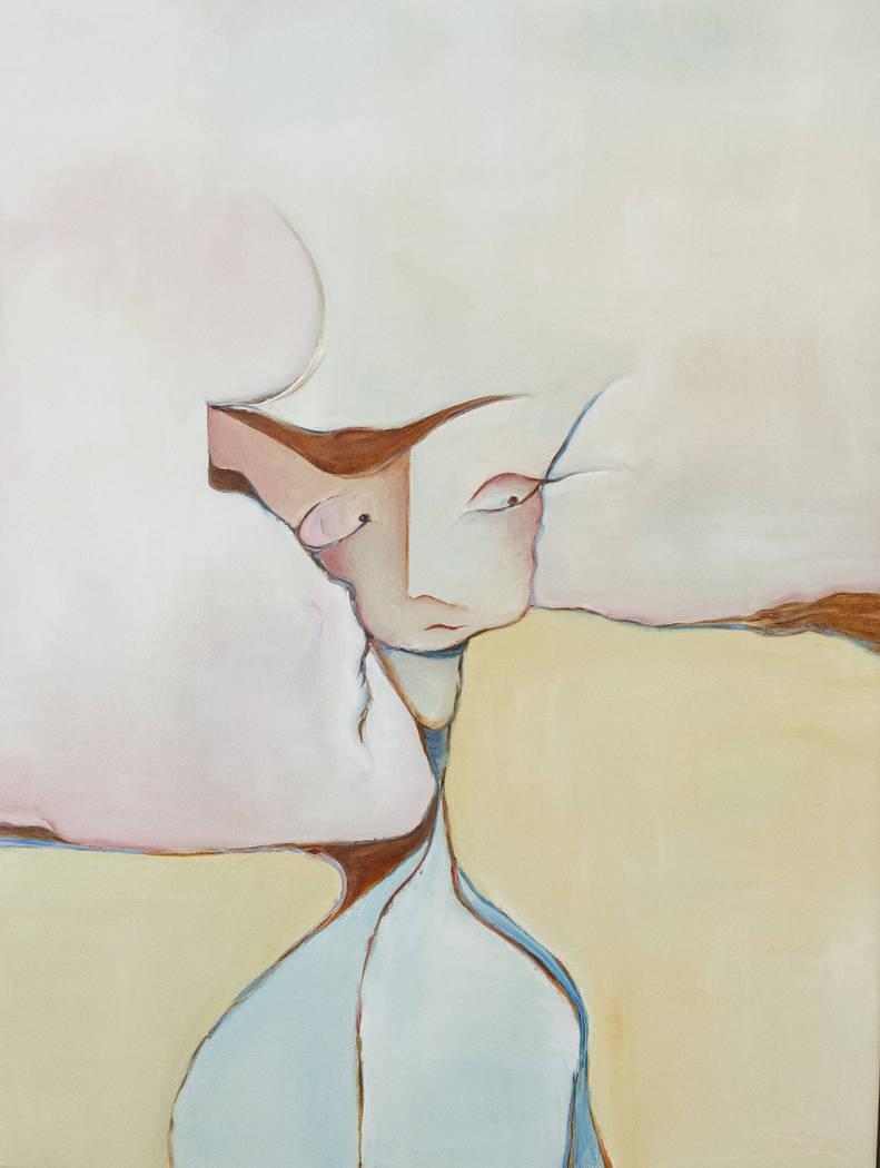 """""""Feather Head"""" de Gail Gilbert está en exhibición en Core Contemporary Gallery en Las Vegas, el miércoles 12 de diciembre de 2018. Caroline Brehman / Las Vegas Review-Journal"""