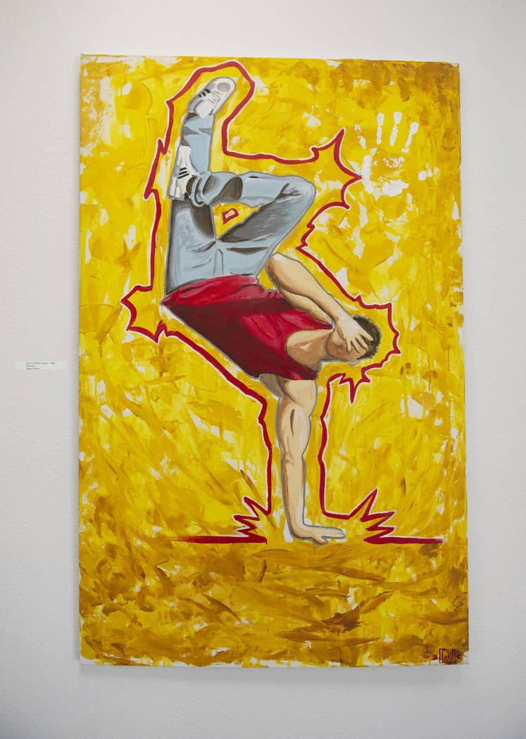 """""""Battle Born"""" de Pete Arias está en exhibición en Core Contemporary Gallery en Las Vegas, el miércoles 12 de diciembre de 2018. Caroline Brehman / Las Vegas Review-Journal"""