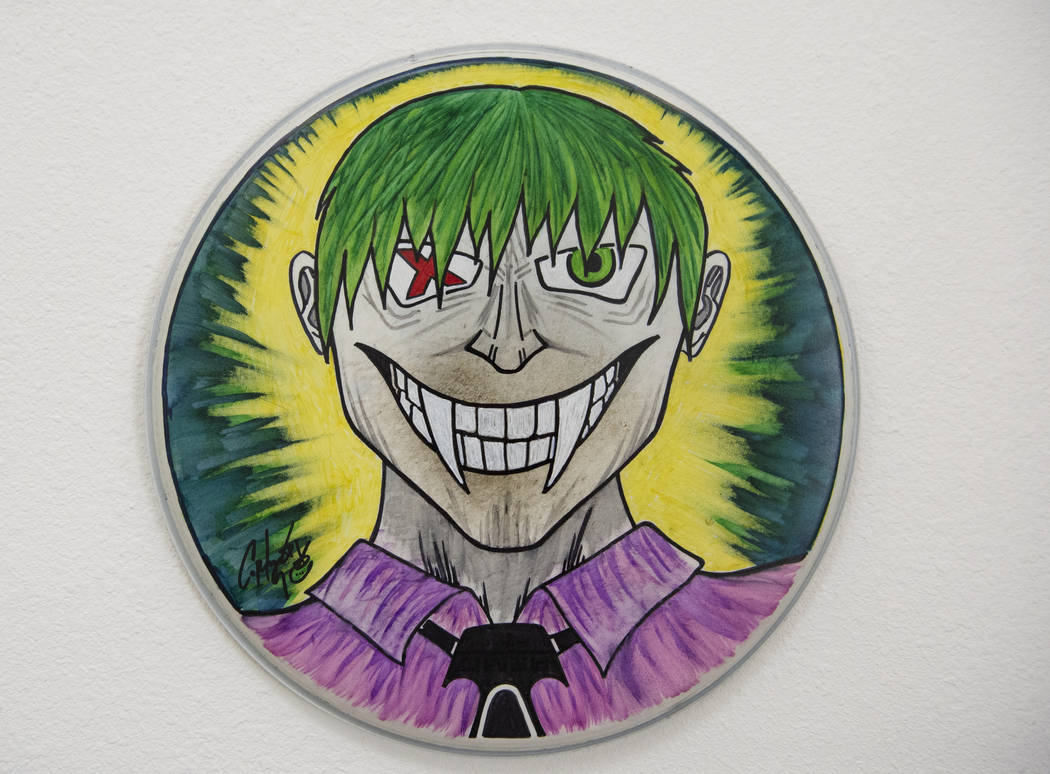 """""""Jokes On You"""" de Corky Gainsford está en exhibición en Core Contemporary Gallery en Las Vegas, el miércoles 12 de diciembre de 2018. Caroline Brehman / Las Vegas Review-Journal"""