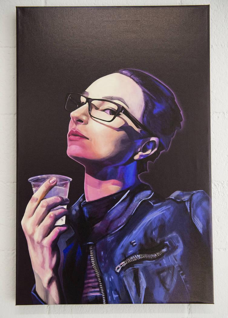 """""""Aleksandra Sauina"""" de Eric Clark está en exhibición en Core Contemporary Gallery en Las Vegas, el miércoles 12 de diciembre de 2018. Caroline Brehman / Las Vegas Review-Journal"""