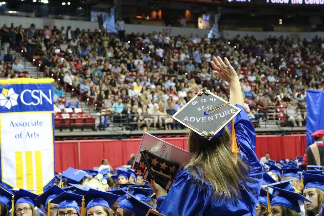 College of Southern Nevada celebró su ceremonia número 46 en Thomas & Mack Center en Las Vegas el lunes 14 de mayo de 2018. La clase de 2018 fue la clase graduada más grande de la escuela en la ...