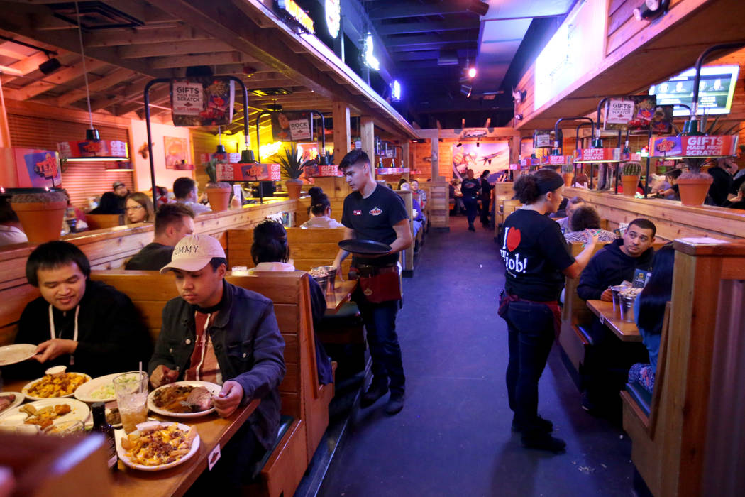 Texas Roadhouse en 1380 E. Craig Road en North Las Vegas Miércoles, 12 de diciembre de 2018. K.M. Cannon Las Vegas Review-Journal @KMCannonPhoto