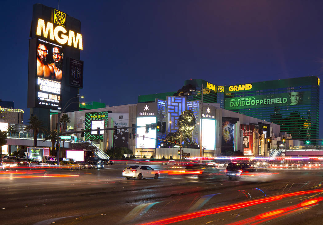 MGM Grand en el Strip en Las Vegas el sábado 15 de diciembre de 2018. Richard Brian Las Vegas Review-Journal @vegasphotograph
