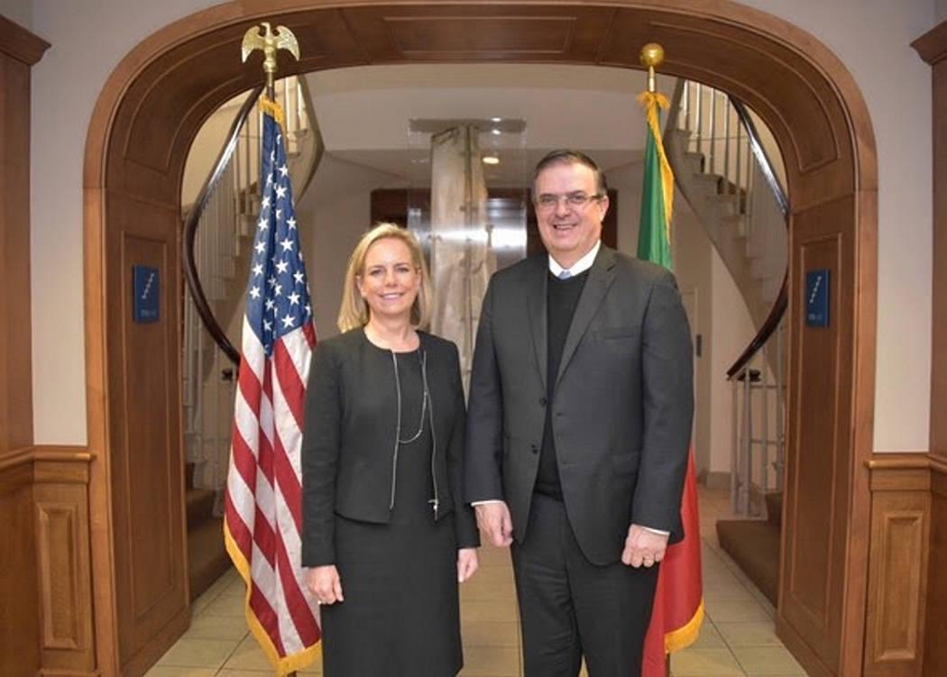 ARCHIVO. Washington, 3 Dic 2018 (Notimex-Especial).- La secretaria de Seguridad Interna de Estados Unidos, Kirstjen Nielsen, destacó hoy las perspectivas de la relación con México tras su reuni ...