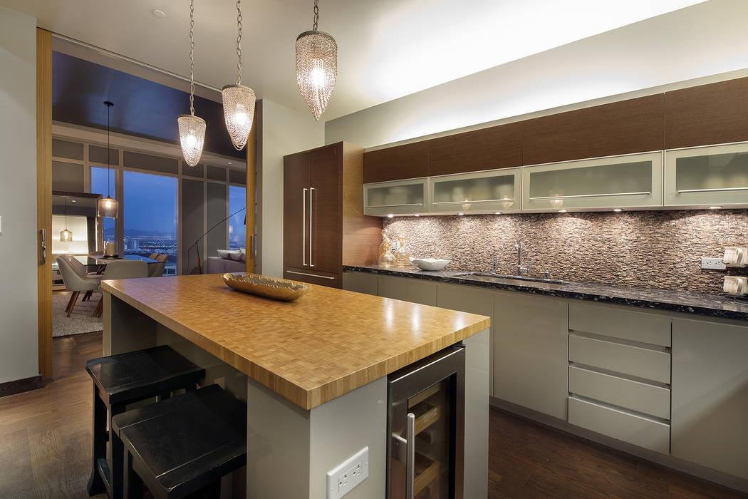 Este condominio de 2 mil 756 pies cuadrados en el Waldorf Astoria - 3750 Las Vegas Blvd. Sur, unidad 4504 - vendida por $4.6 millones en diciembre. (Aclamar Bienes Raíces)