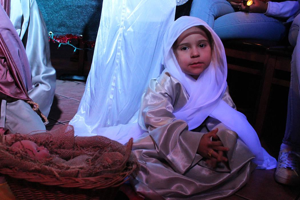 Niños hicieron una representación del pesebre y nacimiento de Jesús. Martes 18 de diciembre del 2018 en restaurante Oiga Mire Vea. Foto Cristian De la Rosa / El Tiempo - Contribuidor.