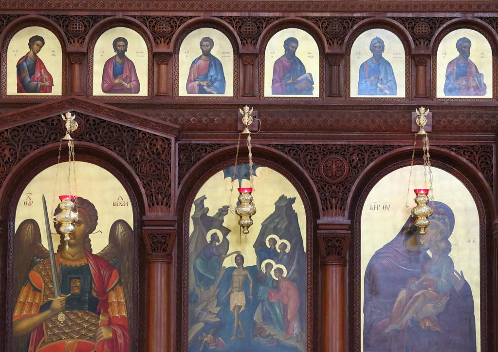 Los iconos del altar de la iglesia ortodoxa griega de San Juan Bautista el viernes 14 de diciembre de 2018 en Las Vegas. Bizuayehu Tesfaye Las Vegas Review-Journal @bizutesfaye