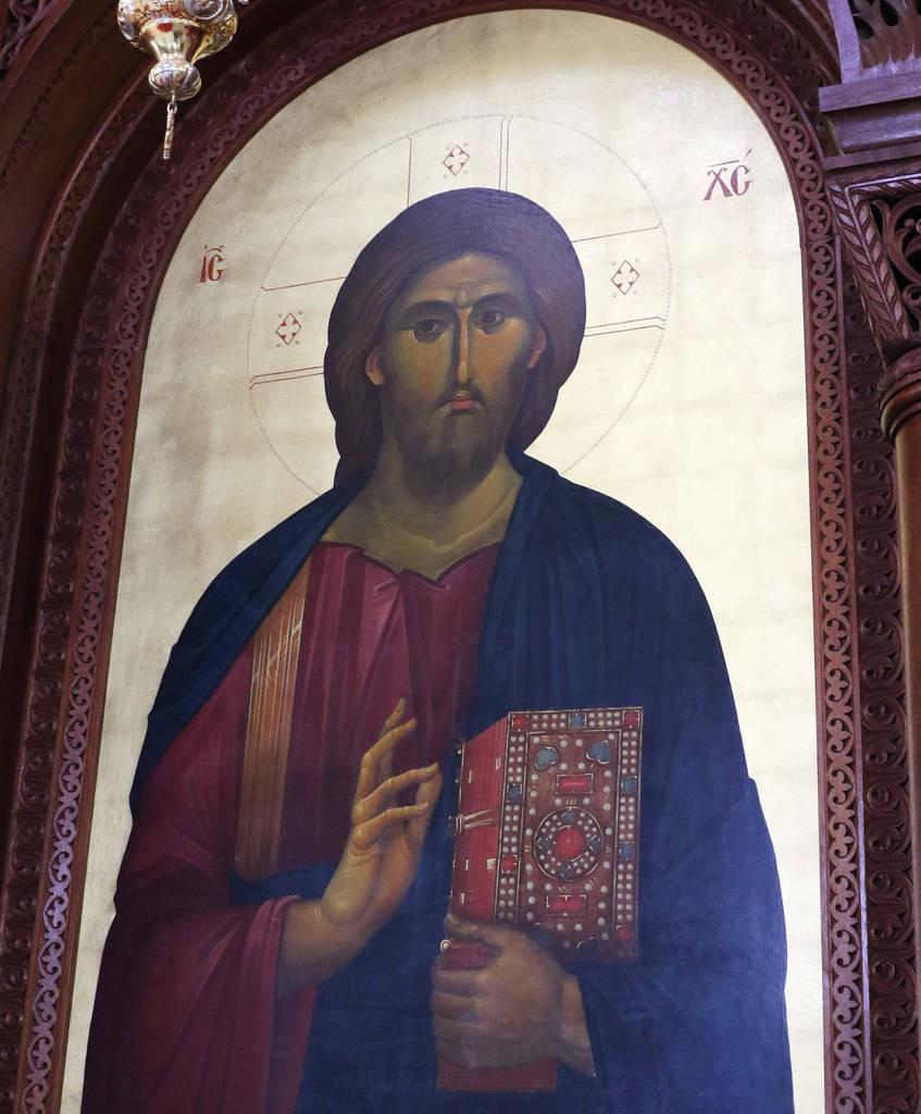 El ícono de Jesucristo se muestra en la iglesia ortodoxa griega de San Juan Bautista el viernes 14 de diciembre de 2018, en Las Vegas. Bizuayehu Tesfaye Las Vegas Review-Journal @bizutesfaye
