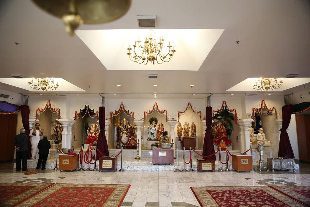 Dentro del Templo hindú de Las Vegas en Las Vegas, jueves 13 de diciembre de 2018. Erik Verduzco Las Vegas Review-Journal @Erik_Verduzco