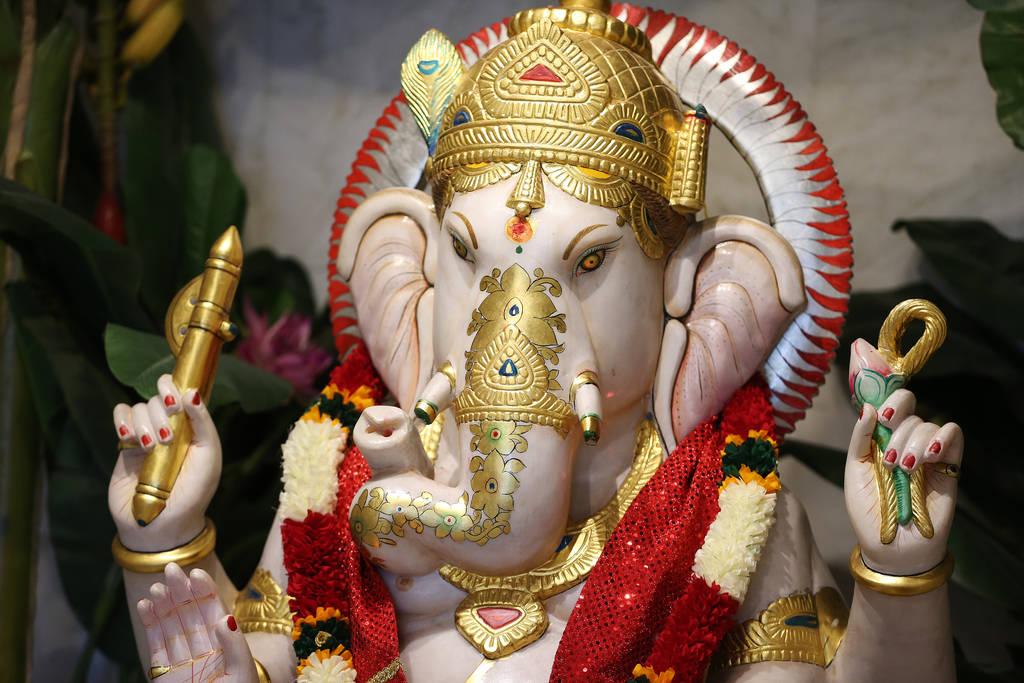 Estatua de la deidad Ganesh en el templo hindú de Las Vegas en Las Vegas, jueves 13 de diciembre de 2018. Erik Verduzco Las Vegas Review-Journal @Erik_Verduzco