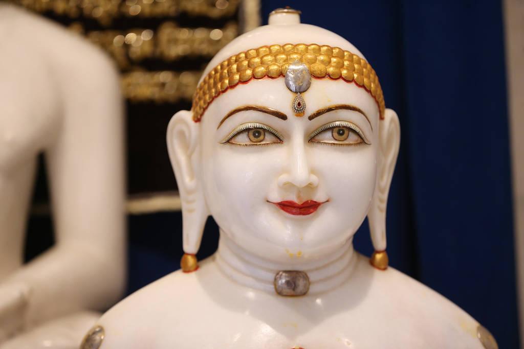 Estatua de la deidad Adhinath en el Templo Hindú de Las Vegas en Las Vegas, jueves 13 de diciembre de 2018. Erik Verduzco Las Vegas Review-Journal @Erik_Verduzco
