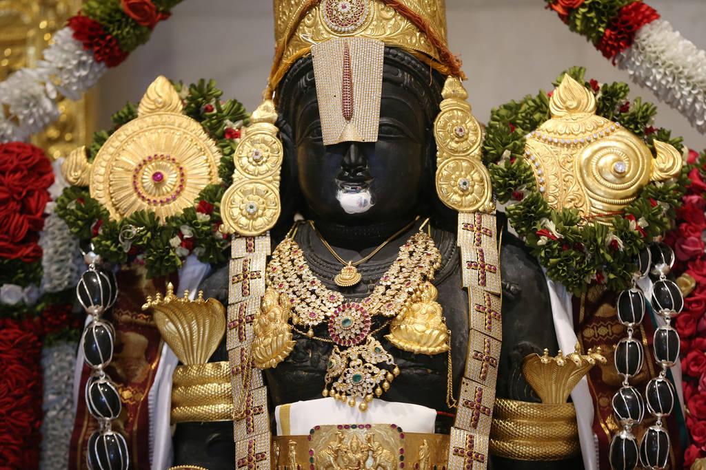 Estatua de la deidad Balaji en el templo hindú de Las Vegas en Las Vegas, jueves 13 de diciembre de 2018. Erik Verduzco Las Vegas Review-Journal @Erik_Verduzco