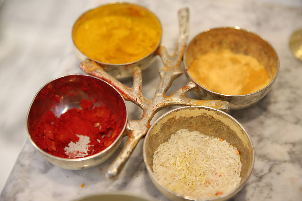 Ofrendas de alimento para las deidades en el Templo hindú de Las Vegas en Las Vegas, jueves 13 de diciembre de 2018. Erik Verduzco Las Vegas Review-Journal @Erik_Verduzco
