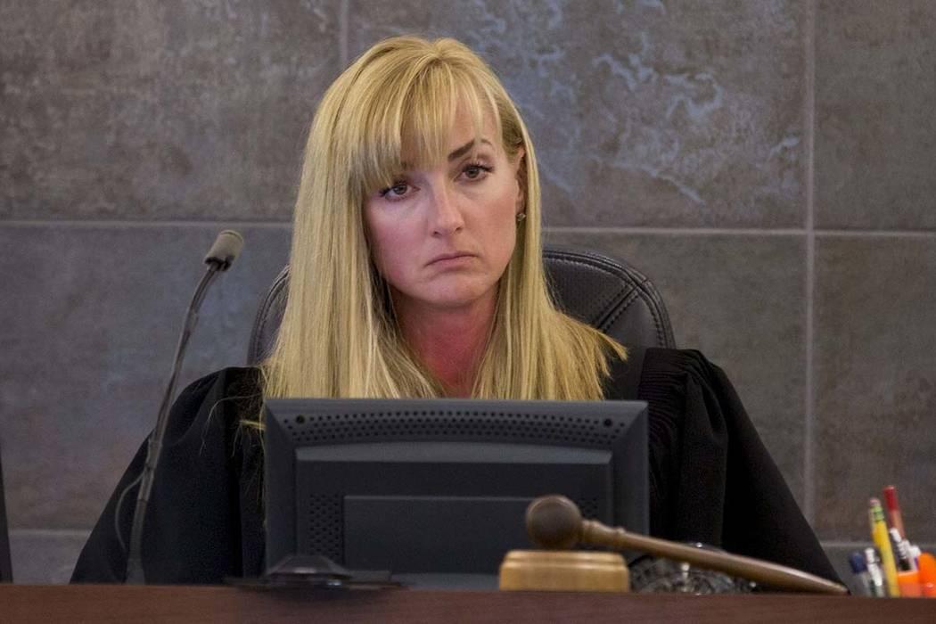 Jueza Stefany A. Miley durante un juicio en el Centro de Justicia Regional de Las Vegas, jueves 29 de junio de 2017. Elizabeth Brumley Las Vegas Review-Journal