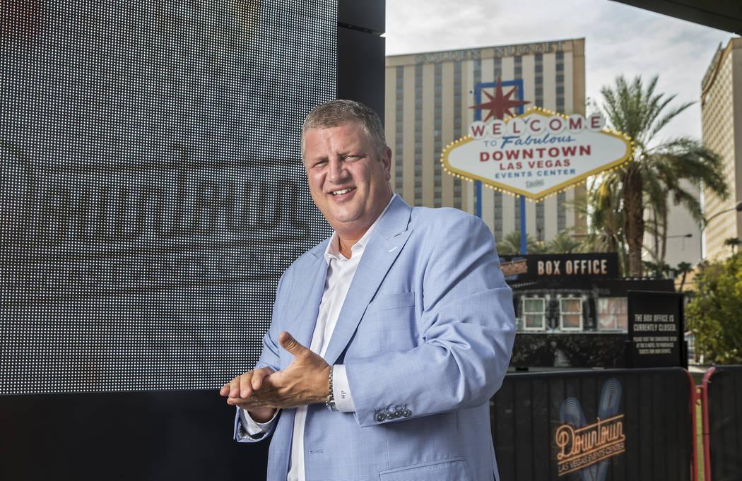 D El CEO de Las Vegas, Derek Stevens, en el Centro de Eventos del Centro de Las Vegas, el jueves 9 de agosto de 2018, en Las Vegas. Benjamin Hager Las Vegas Review-Journal @benjaminhphoto