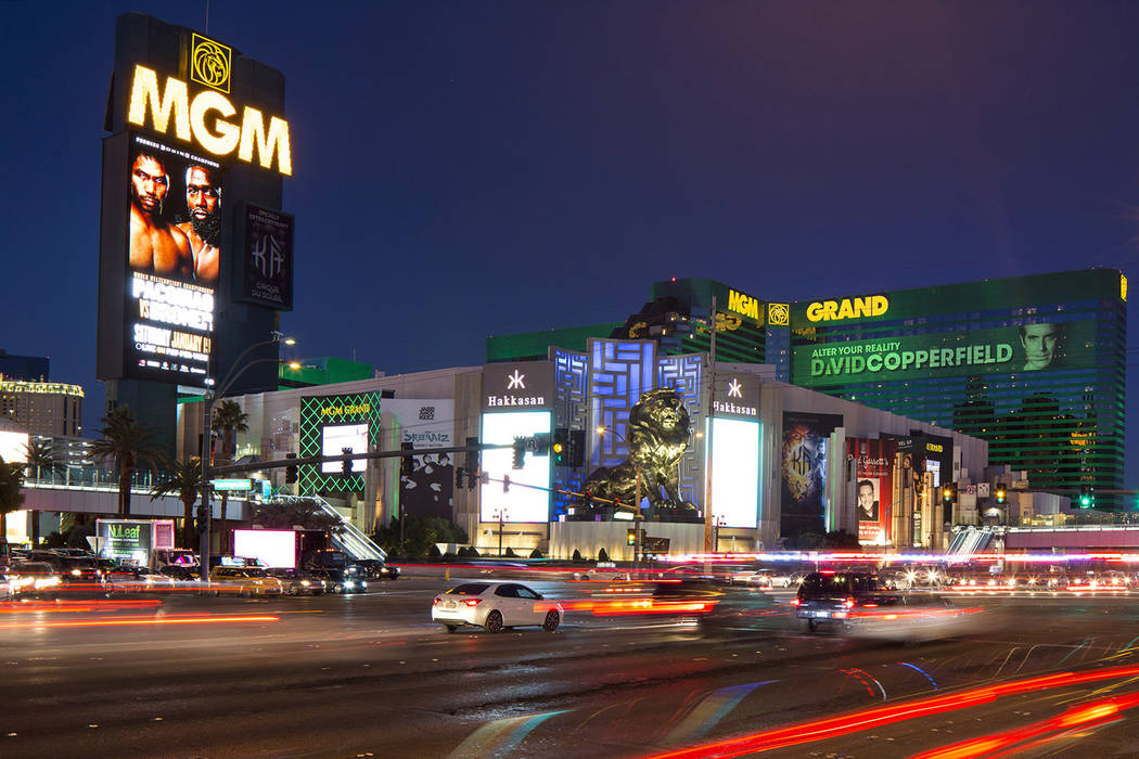 MGM Grand on the Strip en Las Vegas el sábado 15 de diciembre de 2018. (Richard Brian / Las Vegas Review-Journal) @vegasphotograph