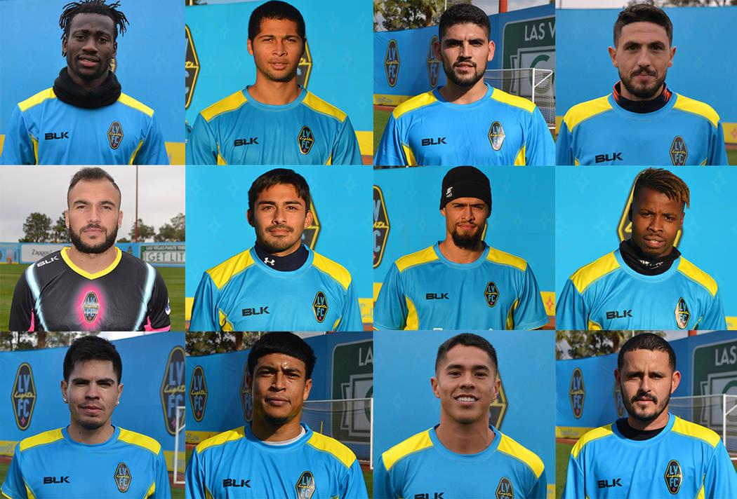 Nuevos jugadores de Las Vegas Lights F.C. [ Foto Cortesía LV Lights F.C. ]