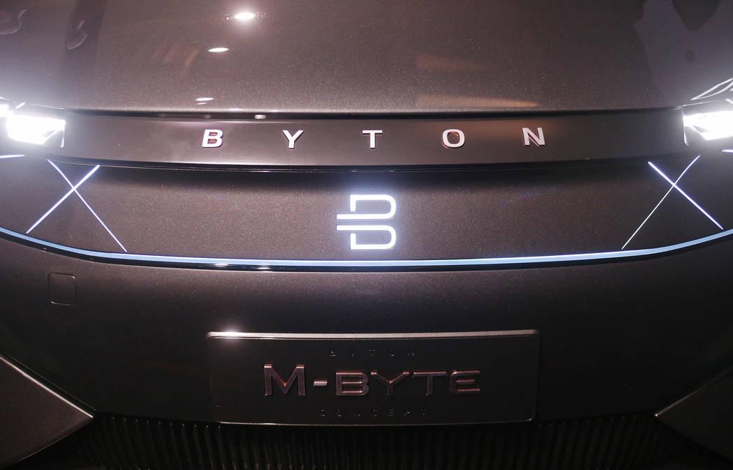 Un SUV M-Byte totalmente eléctrico de Byton en un evento de CES para los medios que presentarán la mega conferencia tecnológica en Mandalay Bay en Las Vegas, domingo 6 de enero de 2019. Rachel ...