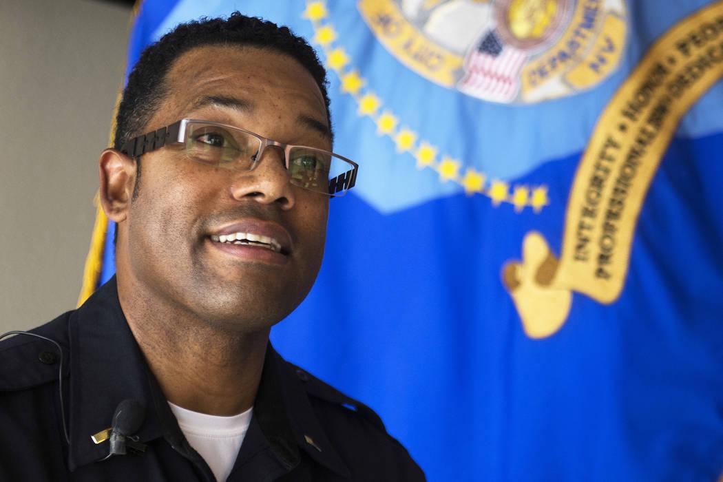 El teniente de la policía de Henderson, Kirk Moore, habla en Las Vegas Review-Journal en Henderson el jueves 3 de enero de 2019. Henderson vio un número récord de homicidios en 2018. Rachel Ast ...