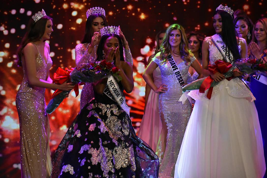 Tianna Tuamoheloa fue coronada como Miss Nevada USA 2019. Domingo 6 de enero de 2019 en el casino South Point. Foto Anthony Avellaneda / El Tiempo.
