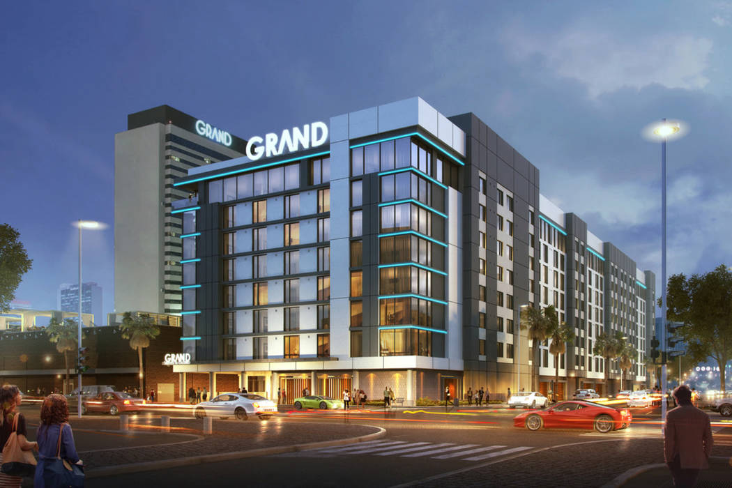 Representación artística de la nueva torre del hotel Downtown Grand Hotel & Casino. (Downtown Grand Hotel & Casino)