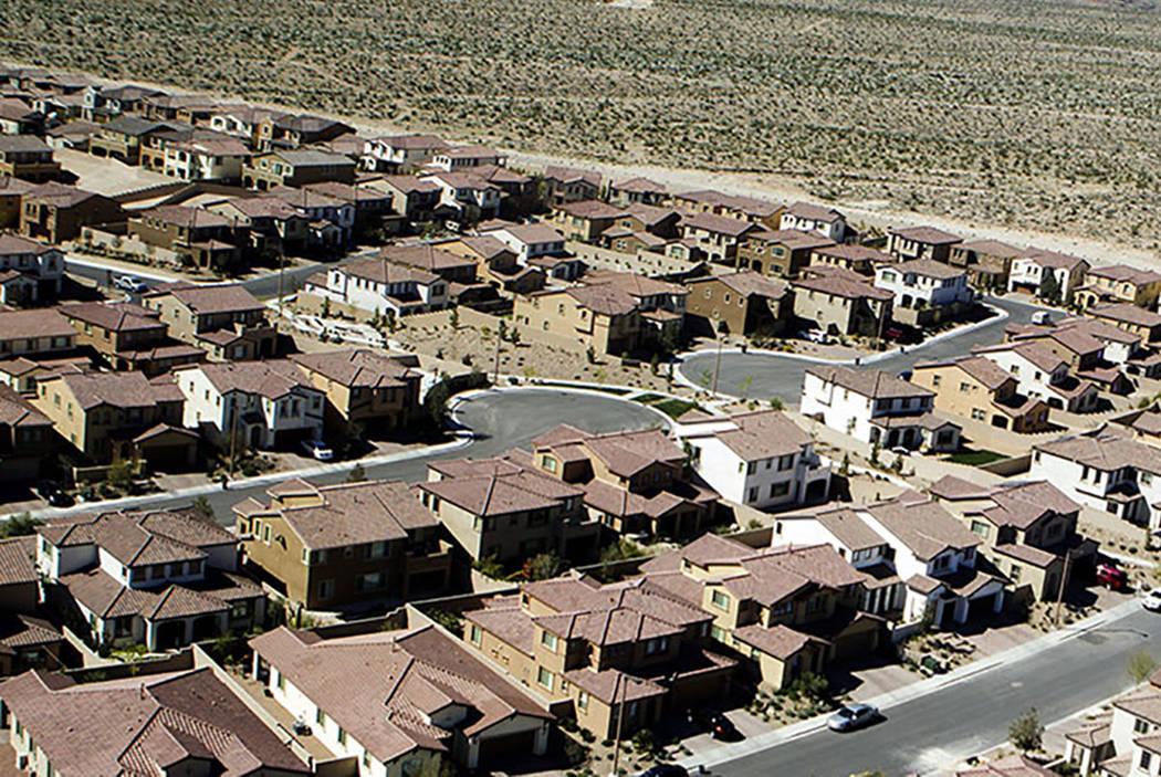 Un desarrollo habitacional en Las Vegas. (Las Vegas Review-Journal)